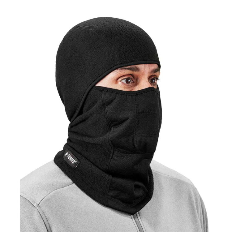 N-Ferno® 6823 Black Wind-proof Hinged Balaclava Face Mask