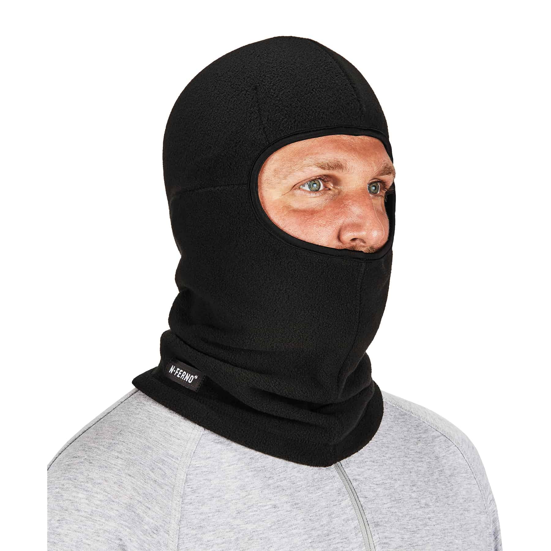 Reflective Safety High Visibility Balaclava Mask Hat Beanie Cap Zipper Neck Warm