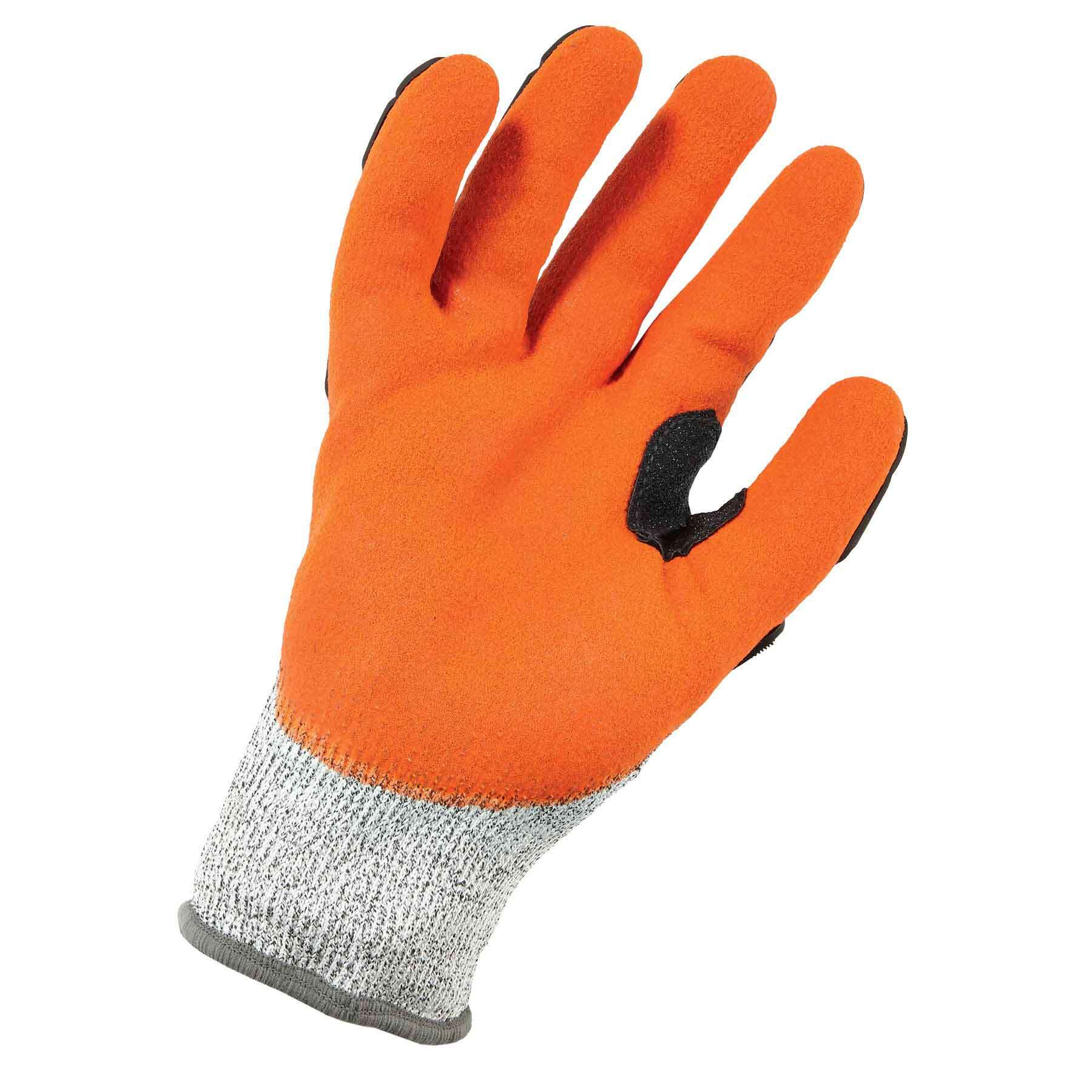 Back Hand Impact Protection Large Cut Resistant Cut Level A3 Ergodyne ProFlex 922CR Nitrile Dipped Work Gloves