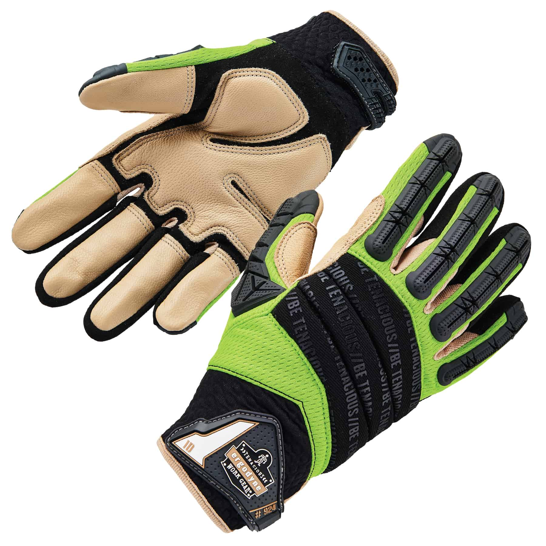 Ergodyne 924LTR ProFlex Leather-Reinforced Hybrid DIR Gloves