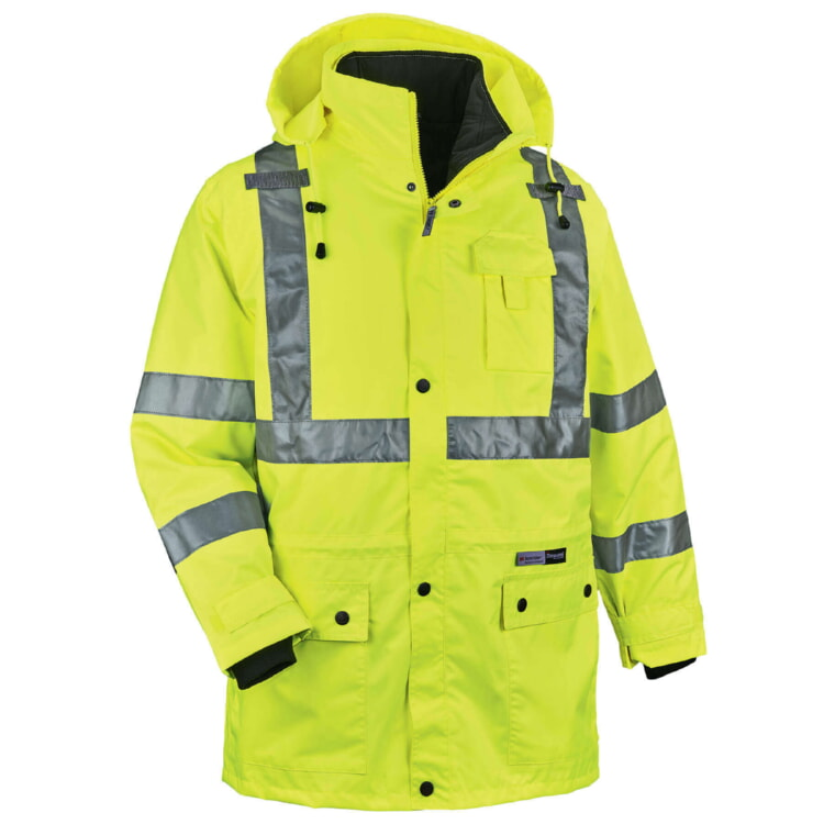 Green High Visibility Thermal 4-In-1 Jacket-Ergodyne 8385