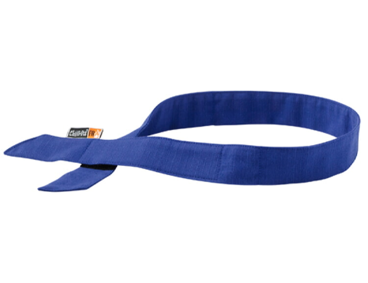 Ergodyne Chill-Its 6705FR Evaporative FR Cooling Hook Bandana-Blue