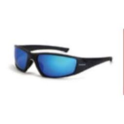 Crossfire RPG polarized HD blue mirror lens, matte black frame
