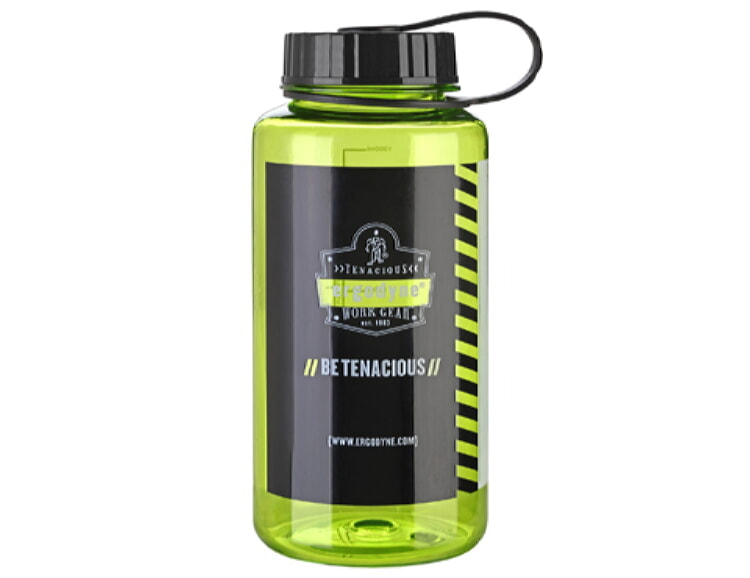 Ergodyne Chill-Its 5151 Wide Mouth Water Bottle 1 Liter Lime