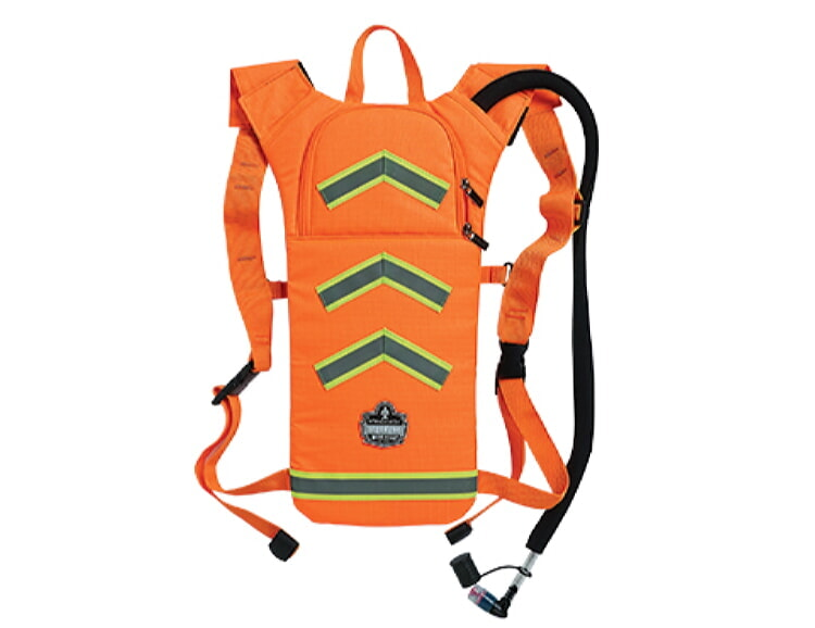 Ergodyne Chill-Its 5155HV Hi-Visibility Low Profile Hydration Pack 2 Liter Orange