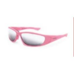 Crossfire 24263 MP7 Foam Lined Glasses - Silver Mirror Lens, Soft Pink Frame