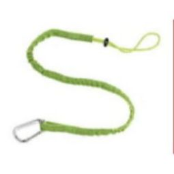 Ergodyne Squids 3100EXT Extended Single Carabiner-10 lbs (Lime)