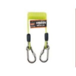 Ergodyne Squids 3130 Coiled Cable Lanyard - 2 lbs (Lime)