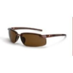 Crossfire ES5 polarized HD brown lens, crystal brown frame