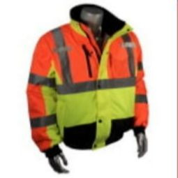 Green/Orange Multi-Color Bomber Jacket Weather Proof-Radians SJ12-3ZMS
