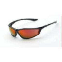 Crossfire 3469 KP6 Red Mirror Lens, Shiny Black Frame