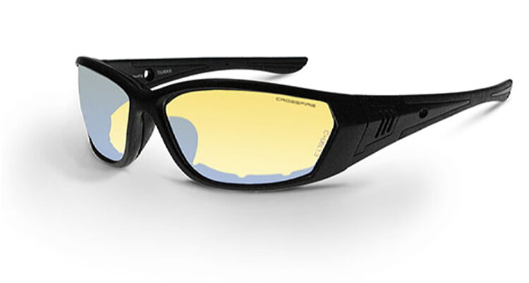Crossfire Eyewear 35231 710 Safety Glasses with Black Frame and Indoor Outdoor Anti-Fog Lens Radians