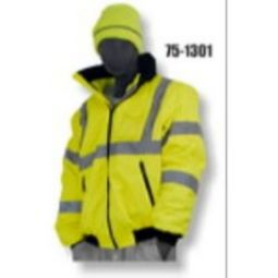 Majestic 75-1301 High Visibility Class 3 Waterproof Bomber Jacket Lined - Hi-Viz Yellow