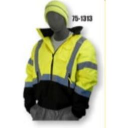 Majestic 75-1313 High Visibility Class 3 Bomber Jacket with Quilted Liner - Hi-Viz Yellow