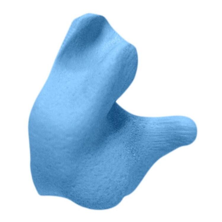 RADCEP001-B Radians Blue Custom Molded Earplugs w// Poly Bag