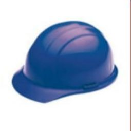 ERB 19366 Americana Mega Ratchet Blue Hardhat 4pt Nylon Suspension