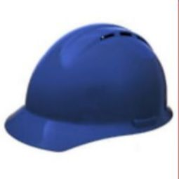 ERB 19256 Americana Vent Blue Hardhat 4pt Nylon Suspension - Slide-Lock