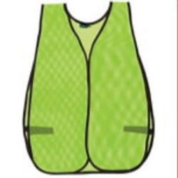 ERB 14603 S18  Non ANSI Hi Viz Lime Mesh Vest - One Size Fits Most