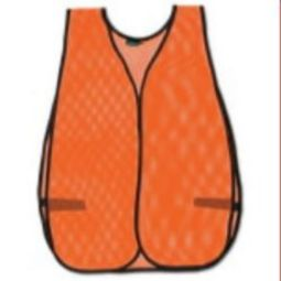 ERB 14600 S18 Non ANSI Hi Viz Orange Mesh Vest - One Size Fits Most