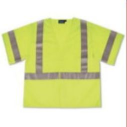 ERB S662 Class 3 Safety Vest - Mesh Hi Viz Lime Hook/Loop