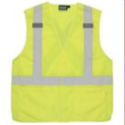 ERB S101 Class 2 Break-Away Vest - X-Back Hi Viz Lime