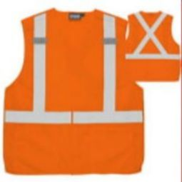 ERB S101 Class 2 Break-Away Vest - X-Back Hi Viz Orange