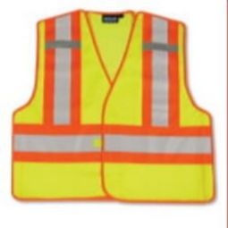 ERB S345 Public Service Break-Away Vest - Hi Viz Lime