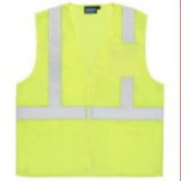 ERB S362P Class 2 Economy Safety Vest w/ Pockets - Hi Viz Lime