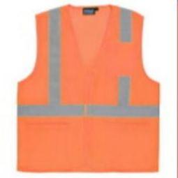 7d5c9afd84e1 ERB S362P Class 2 Economy Safety Vest w  Pockets - Hi Viz Orange