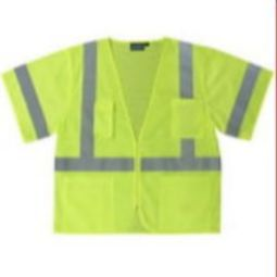 ERB S440 Class 3 Safety Vest - Mesh with Zipper Hi Viz Lime