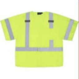 ERB S542 Class 3 Safety Vest - Break-Away Vest Hi Viz Lime Fall Protection D-Ring Slot