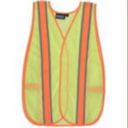 ERB 61667 S903 Non ANSI Contrasting Trim Hi Viz Lime Vest - One Size Fits Most
