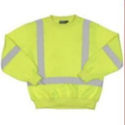 ERB W143 High Visibility Class 3 Crew Neck Pullover-style Sweatshirt - Hi Viz Lime