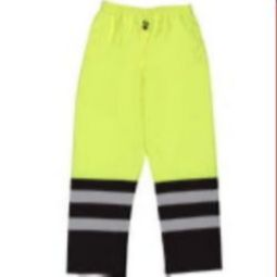 ERB S649 Class E Waterproof Pants with Elastic Waist - Hi Viz Lime