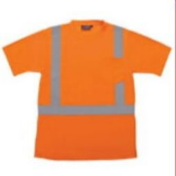 ERB 9006S Class 2 T-Shirt with Reflective Tape Birdseye Knit Mesh - Hi Viz Orange