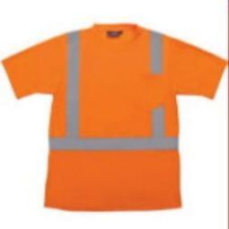 ERB 9601S Class 2 Short Sleeve with Reflective Tape - Hi Viz Orange