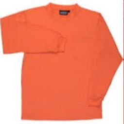 ERB 9602 Non-ANSI Polyester knit T-Shirt with Wicking - Hi Viz Orange