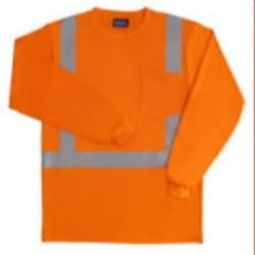 ERB 9602S Long Sleeve Polyester T-Shirt with Wicking - Hi Viz Orange