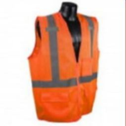 Radians SV27-2ZOM Class 2 Multipurpose Surveyor Vest - Hi-Viz Orange