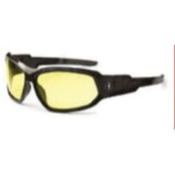 Ergodyne 56050 Skullerz Loki Safety Goggles -Black/Yellow