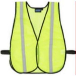 ERB S22R Non-ANSI Vest w/Stripe - Hook & Loop - Lime - One Size Fits Most