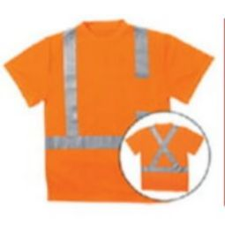ERB 9006SX ANSI Class 2 Short Sleeve Birdseye Knit Mesh Hi-Viz Orange