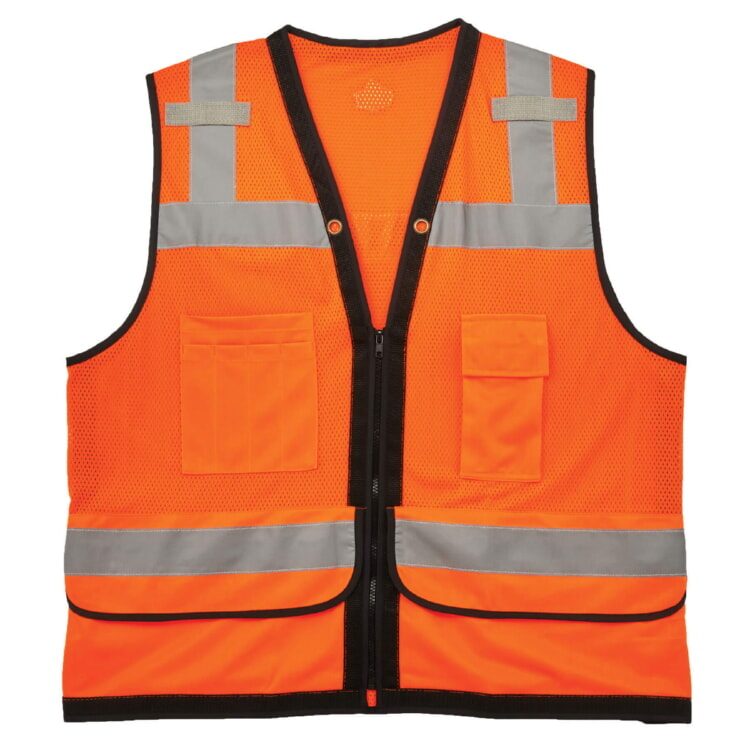 Ergodyne GloWear® 8253HDZ Type R Class 2 Heavy-Duty Mesh Surveyors Vest - Orange