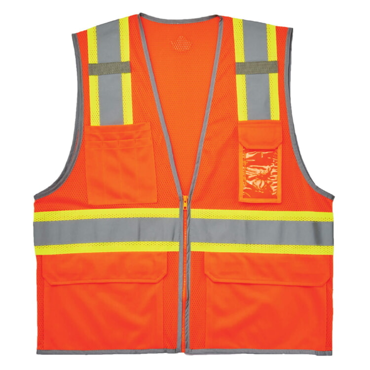 Ergodyne 8246Z Two-Tone  Class 2 Safety Vest-Orange