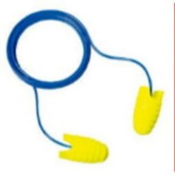 3M 312-6001 E-A-Rsoft Grippers Corded Earplugs, 200 pairs