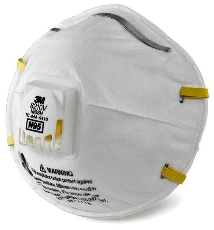 3M 8210V Particulate Respirator 8210V, N95 10-Pack