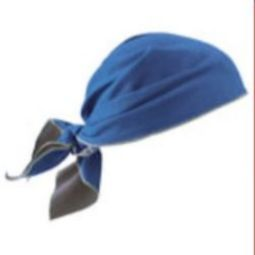 Ergodyne Chill-Its 6710MF Evap. Cooling Triangle Hat - Blue