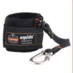 Ergodyne squids 3114 Pull-On Wrist Lanyard with Carabiner - Black