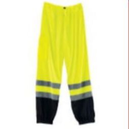 Ergodyne 8910BK Supplemental Class E Black Bottom Mesh Pants - Lime