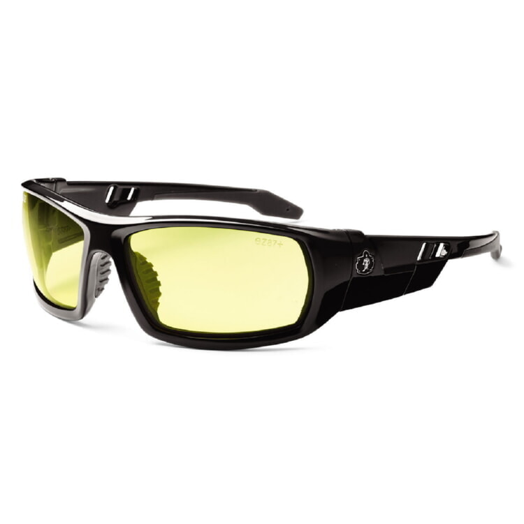 Ergodyne Skullerz ODIN Safety Glasses - Black Frame - Yellow Lens